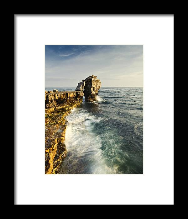 Rocks Framed Print featuring the photograph Pulpit Rock In Dorset by Matthew Gibson