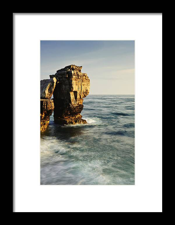Rocks Framed Print featuring the photograph Pulpit Rock On Jurassic Coast by Matthew Gibson