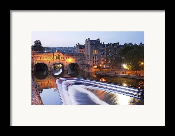 Architecture Framed Print featuring the photograph Pulteney Bridge And Weir Bath by Colin and Linda McKie