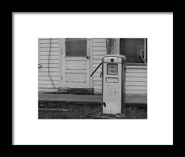 Gas Pump Framed Print featuring the photograph Pump Closed by Alexander Meic