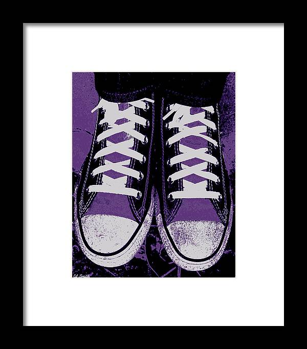 Pumped Up Purple Framed Print featuring the photograph Pumped Up Purple by Edward Smith