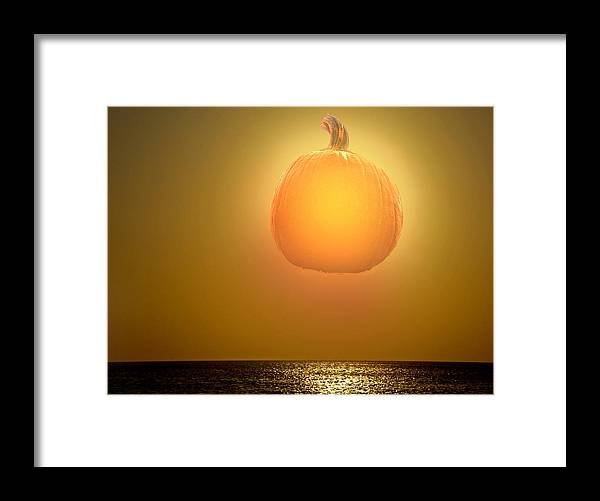 Framed Print featuring the photograph Pumpkin Nite Lite by Pepsi Freund
