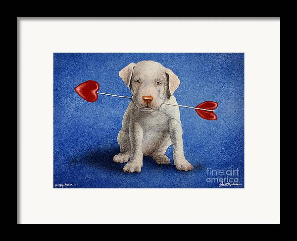 Will Bullas Framed Print featuring the painting Puppy Lover... by Will Bullas