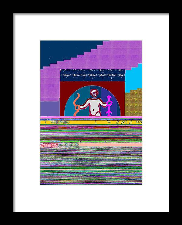 Template Framed Print featuring the painting Pure Decoration Zodiac Symbol Art by Navin Joshi