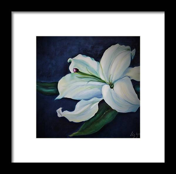 Purity Framed Print featuring the painting Purity by Liza Ayach