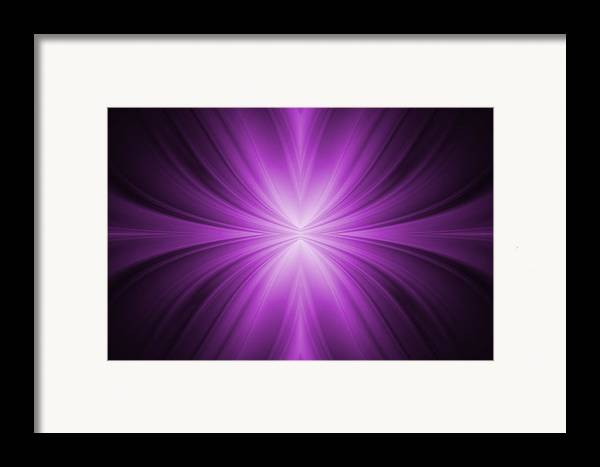 Abstract Framed Print featuring the tapestry - textile Purple Abstract Background by Somkiet Chanumporn