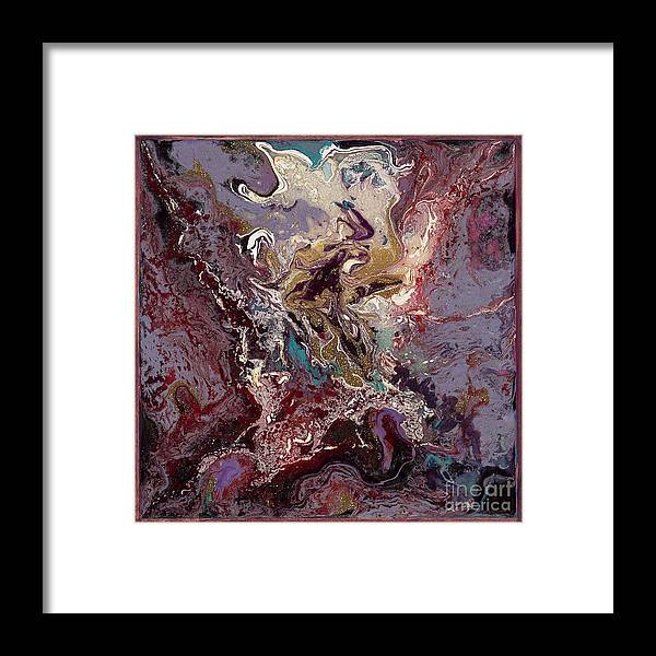 Purple Framed Print featuring the painting Purple Blitz by Nadine Rippelmeyer