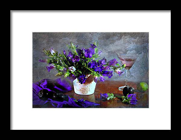 Still Life Framed Print featuring the photograph Purple Blues by Diana Angstadt