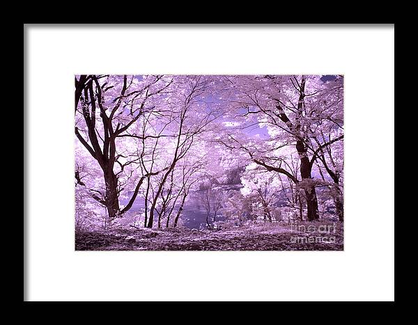 Infrared Framed Print featuring the photograph Purple Forest by Paul W Faust - Impressions of Light