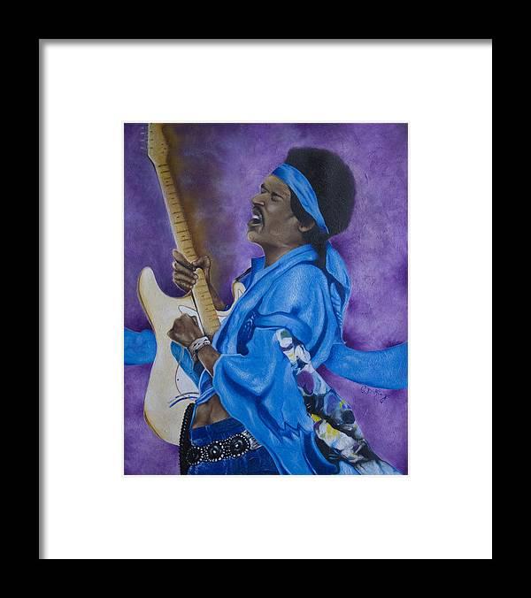 Portraiture Framed Print featuring the painting Purple Haze by Stephen J DiRienzo