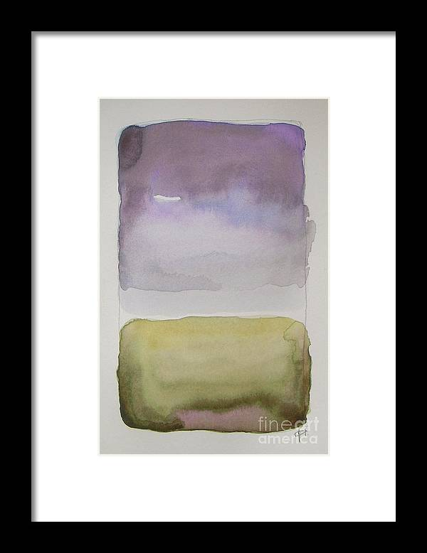Landscape Framed Print featuring the painting Purple Morning by Vesna Antic