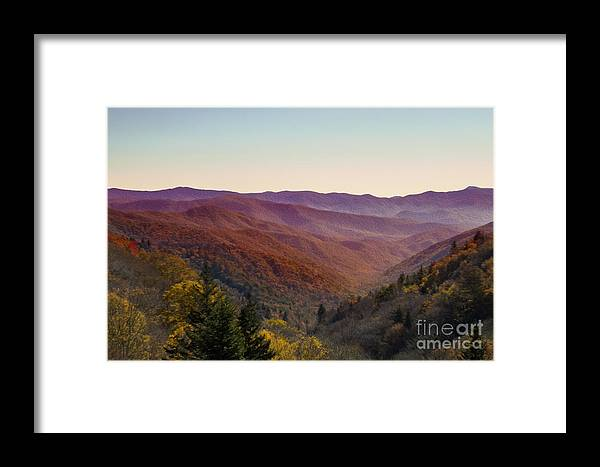 Nature Framed Print featuring the photograph Purple Mountains Majesty by Dawn Gari