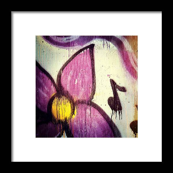 Landscape Framed Print featuring the photograph Purple Paint One by Lena Wilhite