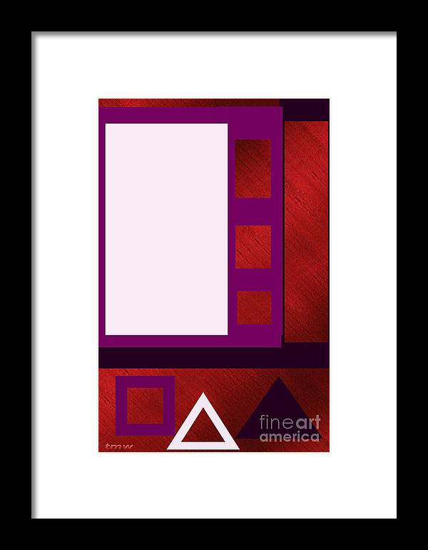 Digital Framed Print featuring the photograph Purple Shutters by Tina M Wenger