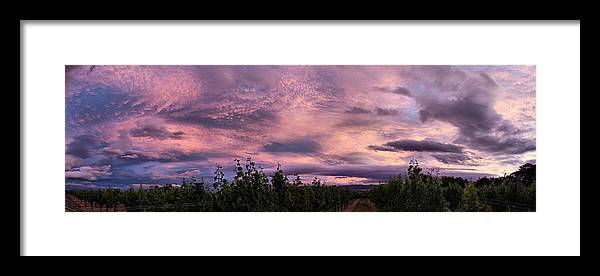 Purple Framed Print featuring the photograph Purple Skies Over Georges Michel Wine Estate by Andrei SKY