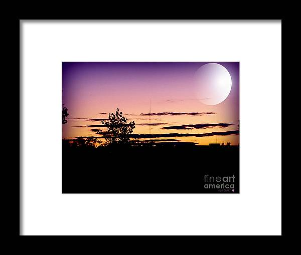 Sky Framed Print featuring the photograph Purple Sky At Night by Linda Galok