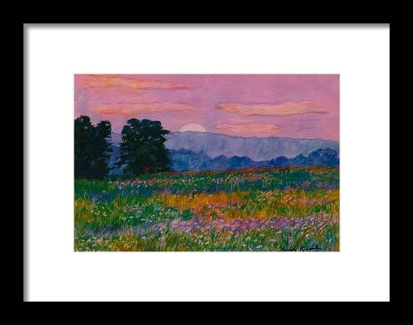 Kendall Kessler Framed Print featuring the painting Purple Sunset On The Blue Ridge by Kendall Kessler