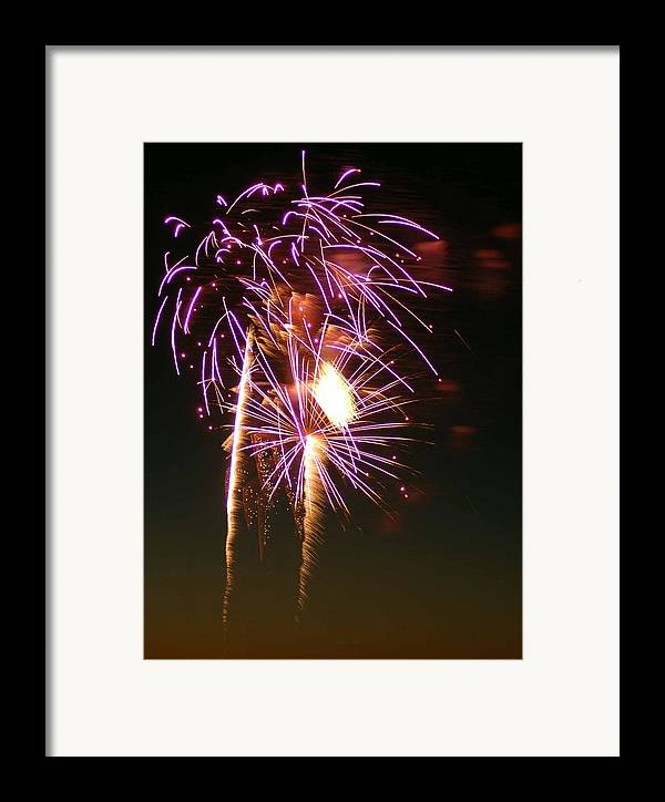 Fireworks Framed Print featuring the photograph Purple Trees by Optical Playground By MP Ray