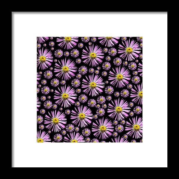 Fleabane Framed Print featuring the digital art Purplish And Daisy Like by Grace Dillon