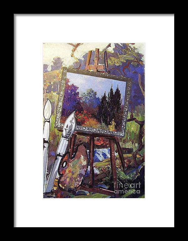 Easel Framed Print featuring the painting Put Color In Your Life by Eloise Schneider Mote