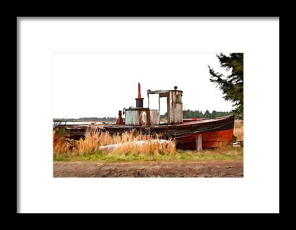 Dan Sabin Framed Print featuring the photograph Put Up Wet by Dan Sabin