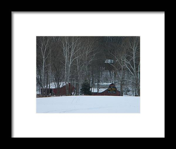 Snow Framed Print featuring the photograph Putnam County Farm in Winter by Helen ONeal