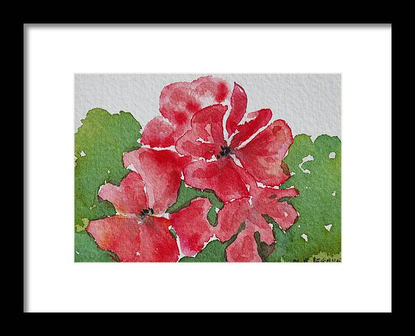 Floral Framed Print featuring the painting Pzzzazz by Mary Ellen Mueller Legault