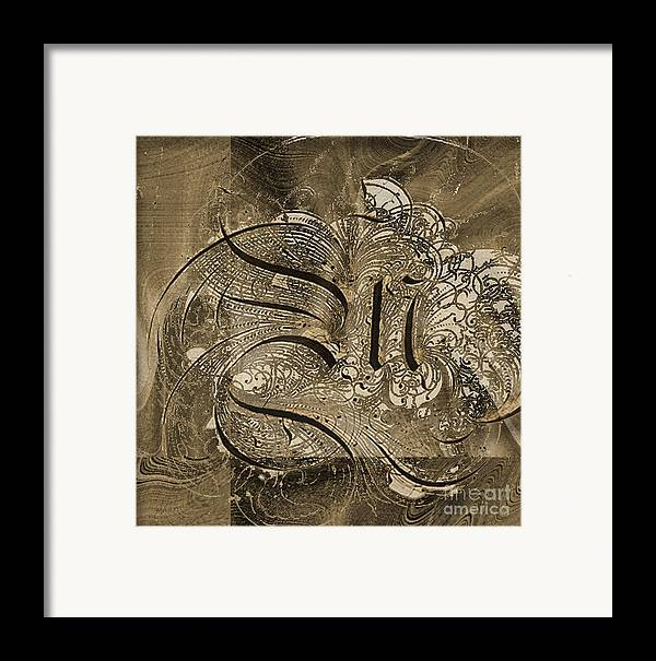 Framed Print featuring the mixed media Q II by Yanni Theodorou