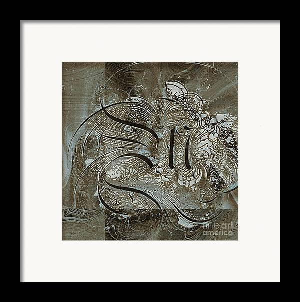 Framed Print featuring the mixed media Q by Yanni Theodorou