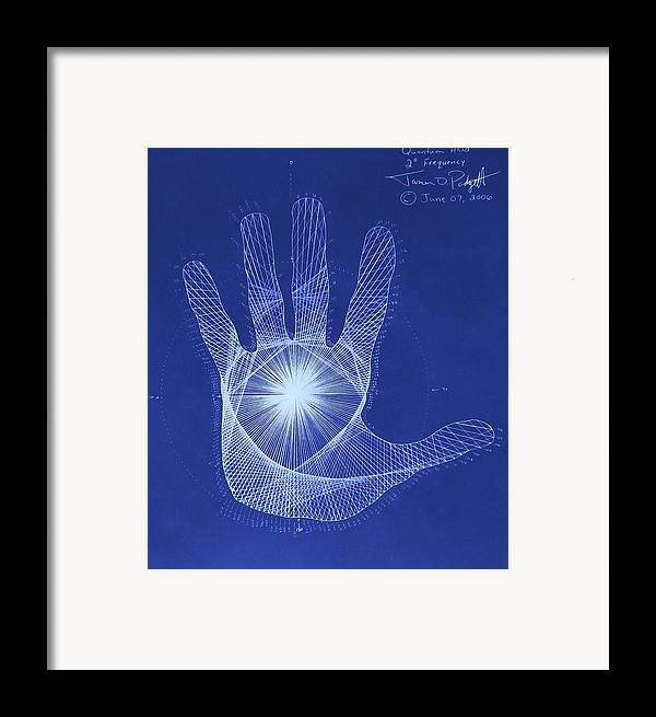 Hand Framed Print featuring the drawing Quantum Hand Through My Eyes by Jason Padgett