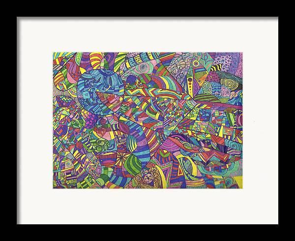 Karma Framed Print featuring the drawing Quantum Qarma by Ty DAvila