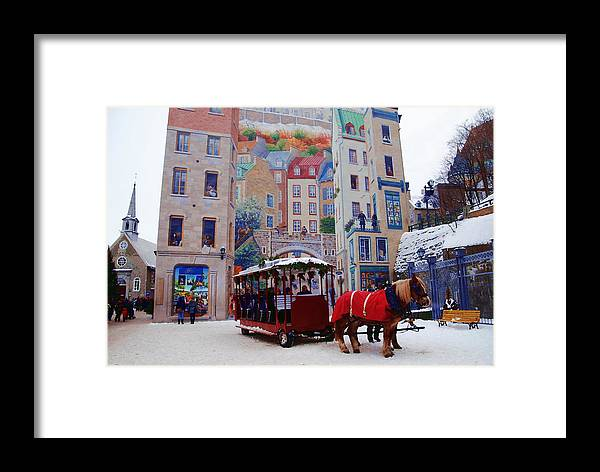 Quebec City Framed Print featuring the photograph Quebec City Holiday by Jacqueline M Lewis