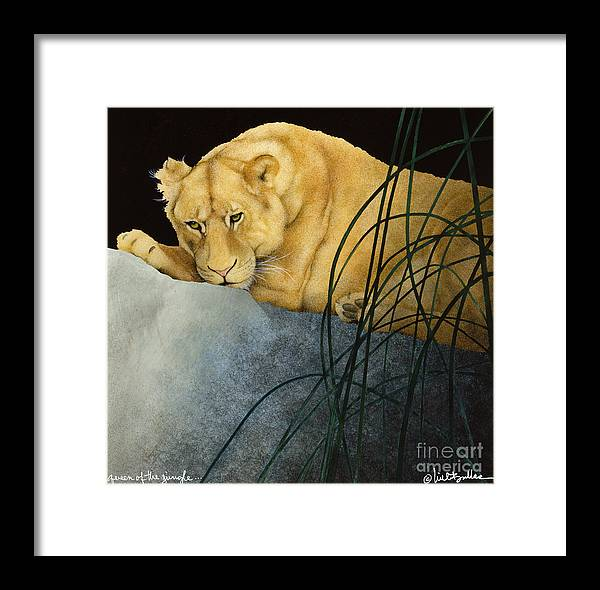 Will Bullas Framed Print featuring the painting Queen Of The Jungle... by Will Bullas