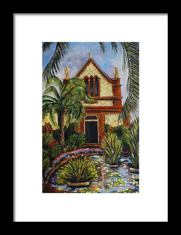 Italy Framed Print featuring the painting Quiet Chapel by Nancy Bradley
