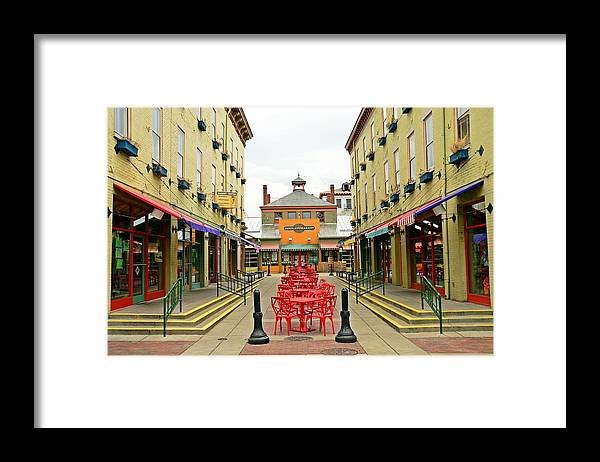 Cincinnati Framed Print featuring the photograph Quiet Day at Findlay Market by David Earl Johnson
