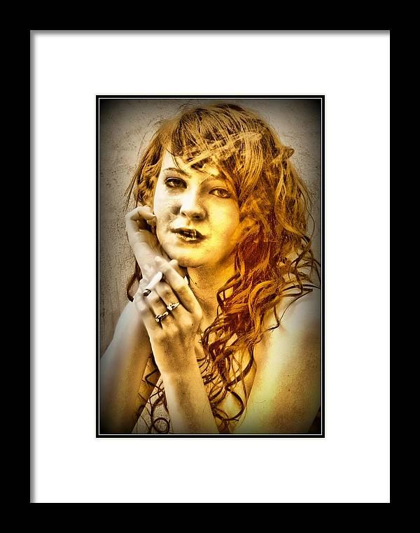 Portrait Framed Print featuring the digital art Quiet Reflection by John Lynch
