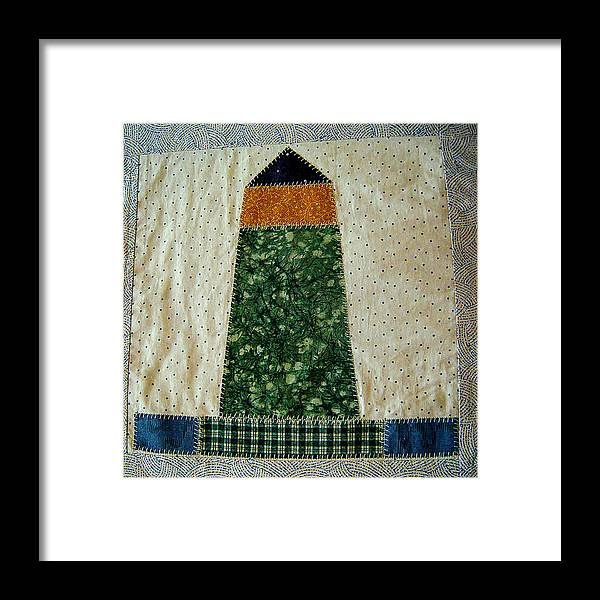 Quilt Framed Print featuring the photograph Quilt Work Of The Chambers Island Lighthouse by Carol Toepke