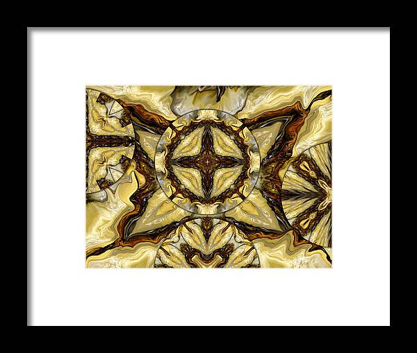 Cream Framed Print featuring the digital art Quilted Cream by Joyce Rogers