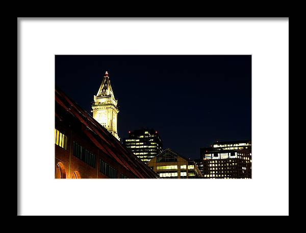 Framed Print featuring the photograph Quincy Market by Mithun Das