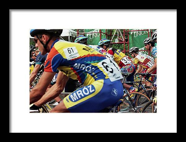 Sports Framed Print featuring the photograph Race Day by Joseph Perno