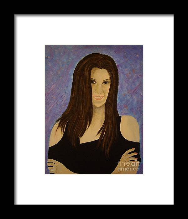 This Is A Portrait Of My Granddaughter Framed Print featuring the painting Rachel Anne by Marilyn Detwiler