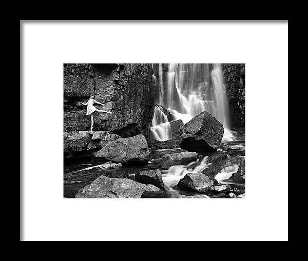Ballerina Framed Print featuring the photograph Rachel At Beartooth Falls by Gene Rodman