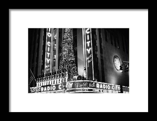 New York Photos Framed Print featuring the photograph Radio City New York by Dave Beckerman