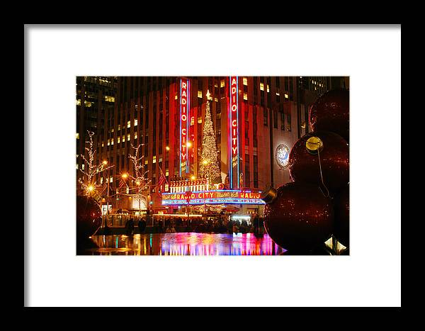 Radio City Framed Print featuring the photograph Radio City by Yue Wang