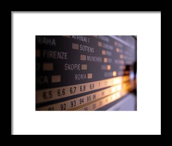 Radio Framed Print featuring the photograph Radio by Petra Kontusic