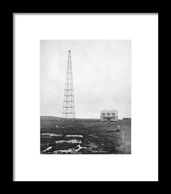 1916 Framed Print featuring the photograph Radio Station, 1916 by Granger