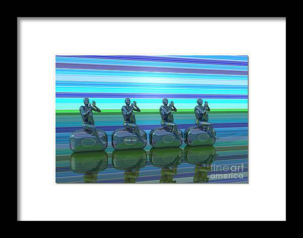 Design Framed Print featuring the digital art Radiostations by Mando Xocco