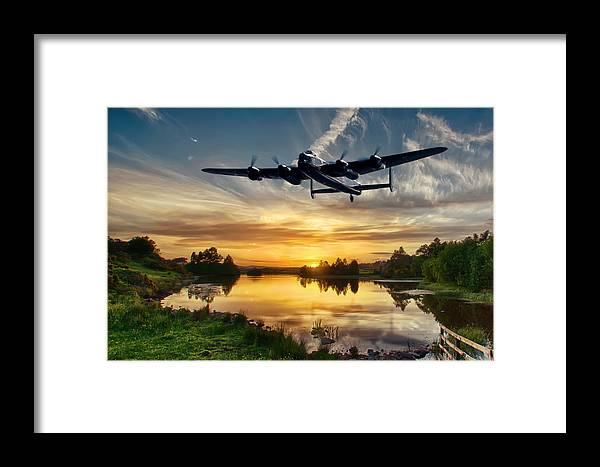Lancaster Framed Print featuring the photograph Raf Lancaster by Sam Smith Photography