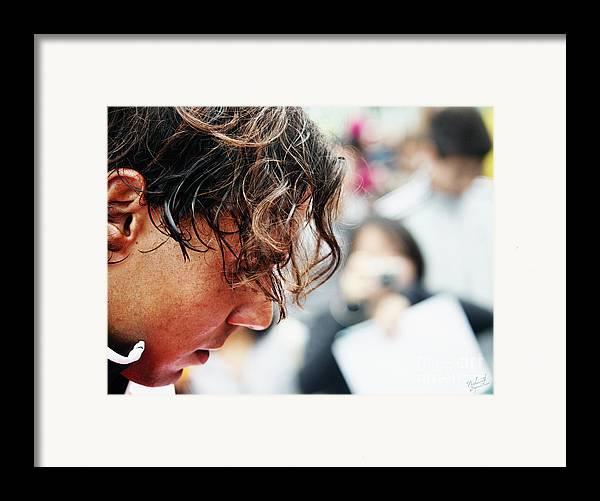 Rafa Nadal Framed Print featuring the photograph Rafael Nadal From Up Close by Nishanth Gopinathan