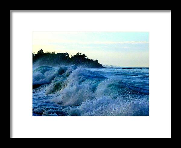 Surf Framed Print featuring the photograph Raging Surf by Lori Seaman